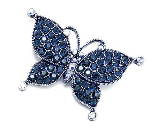 gran descuento para más vendido apariencia elegante Broche Mariposa Tonos azules