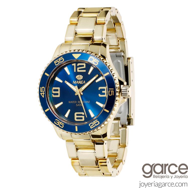 la mejor actitud 575fb 80b5c Reloj Marea Metalike Dorado B35237/7 de caballero