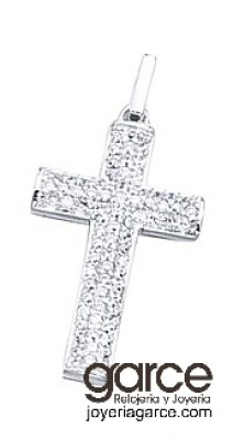 1b5ba249fa5c Colgante de plata y circonitas Cruz